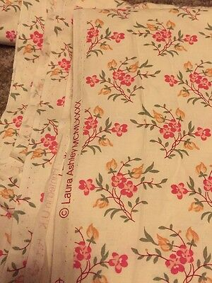 Vintage Laura Ashley Fabric 7.2 Meters Stunning Shabby Chic 💯% Cotton From 1990