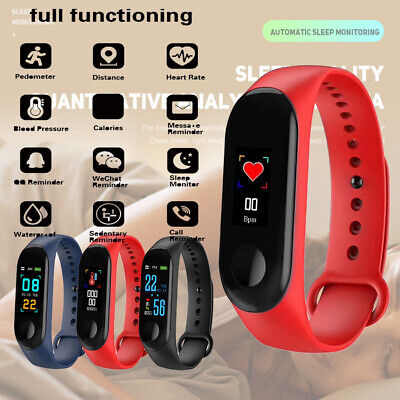 Smart Bracelet Watch Blood-Pressure Heart-Rate Monitor Wristband For iOS Android
