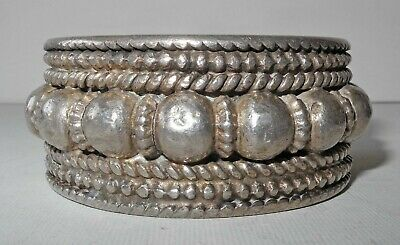 END 19th EARLY 20th CENTURY HEAVY SILVER SLAVE BRACELET