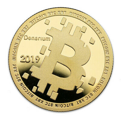 Denarium - Physical Bitcoin - 2019 Gold Plated Coin