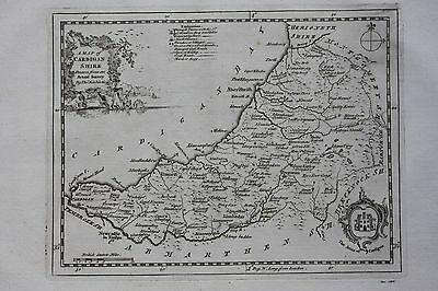 Original antique map, WALES, CARDIGANSHIRE, CARDIGAN, Thomas Kitchin, 1769
