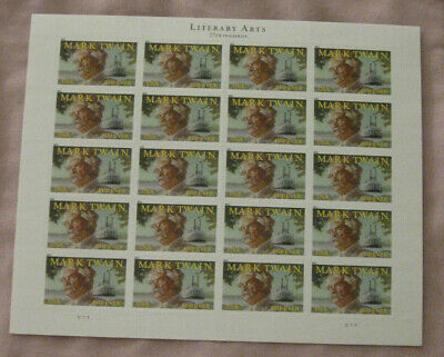 2011 Mark Twain Literary Arts Series Sheet 20 Forever Stamps New Mint Hinged