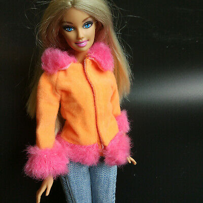 Nice pink&yellow Loose coat skirt&Clothes for 1/6 (11.5inch) BJD Doll