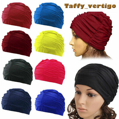 Unisex Free Size Adult Swimming Hat Turban Swim Cap Nylon Spandex Fabric Summer