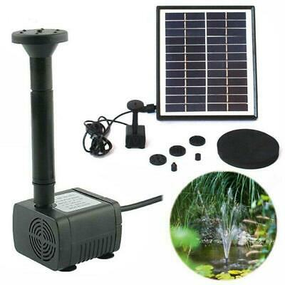 5W 500L/H Solar Powered Submersible Water Pump Kit Garden Pool Pond Fountain