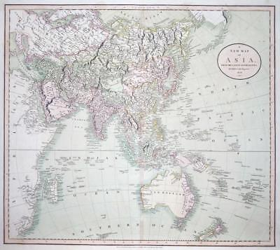1806 Large Antique map of ASIA by JOHN CARY CHINA INDIA ARABIA AUSTRALASIA