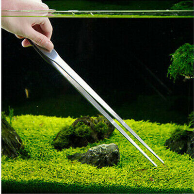 27CM Aquarium Plant Reef Tank Long Straight Tweezer Clip Scissor Stainless Steel