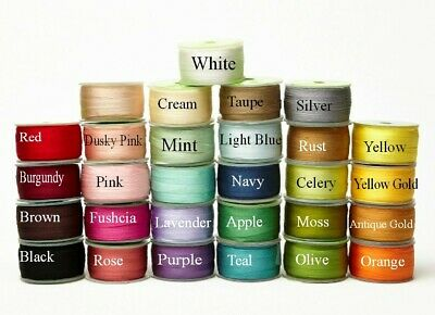 Better Value by the Roll! May Arts 100% Pure Silk 7mm Ribbon - sold by 50m Roll