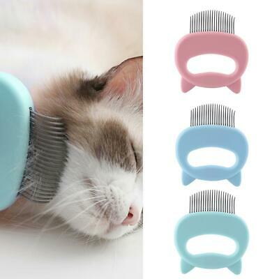 Cat Ear Shape Pet Grooming Comb Dog Cat Floating Knot Hair Cleaning Metal Brush