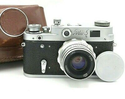 Retro Rangefinder Camera FED 3 USSR Lens Industar-26M 2,8/52 Filter ussr Vintage