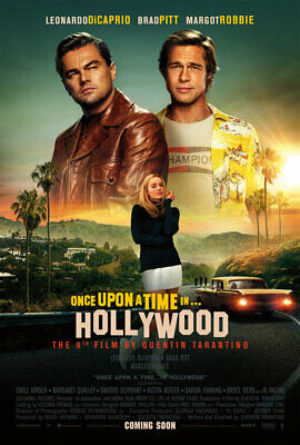 Once Upon A Time In Hollywood 2019 Movie Poster A4 size V10