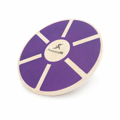 Prosource Fit Round Wooden Gym Exercise Fitness Balance Wobble Board, Purple
