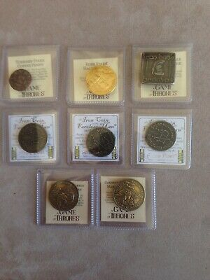 GAME OF THRONES Set of 8 coins Shire Post Mint NEW