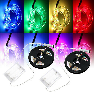 Waterproof Craft Strip Light LED RGB 5V And Controller Battery Powered 1/2Meter