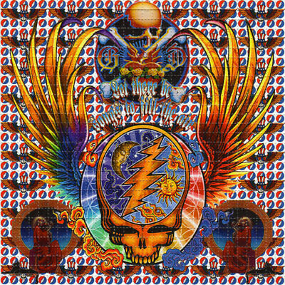 Dead Wings BLOTTER ART perforated sheet paper psychedelic art