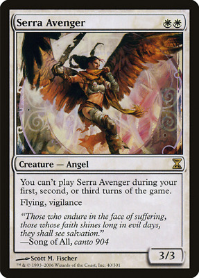 White m13 Magic 2013 Mtg Magic Rare 4x x4 4 PLAYED Serra Avenger