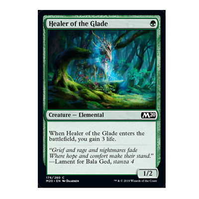 healer of the glade 176/280 common foil core set 2020