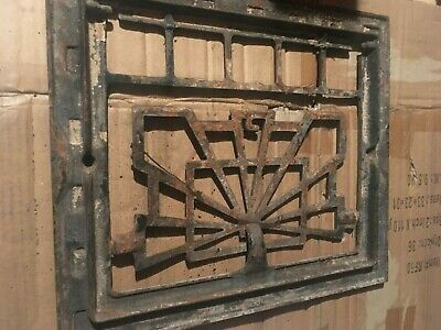 "Heat Air Grate Wall Register 14"" x 12 "" GRATE ONLY - VINTAGE ART DECO"