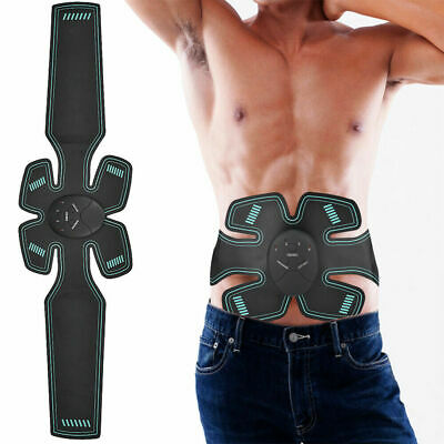 EMS Abdominal Trainer Waist Muscle Stimulator Body Fitness Slimming ABS Mas K4A9