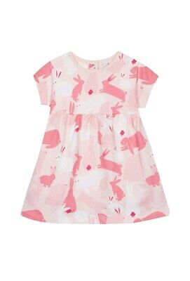 Bluezoo Baby girls pink bunny Dress Size 6-9 months Bunny Rabbits - Easter