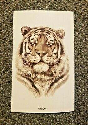 tiger small temporary tattoo