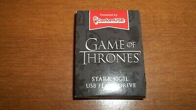 Game of Thrones Stark Sigil USB thumb flash drive HBO Loot Crate exclusive NEW!
