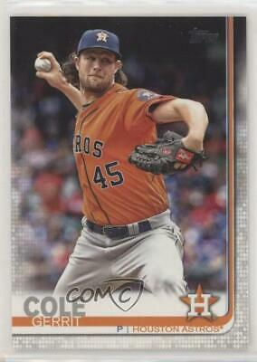 2019 Topps #572.1 Base - Gerrit Cole (Pitching) Houston Astros Baseball Card