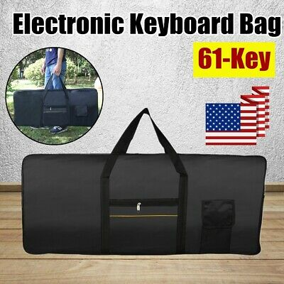US Portable 61-Key Keyboard Electric Piano Padded Case Gig Bag Oxford Cloth