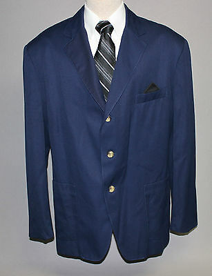 TOMMY HILFIGER 42R Large New 3 Btn Light Weight Solid Navy Blue Sport Coat NWOT