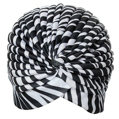 10X(Bonnet Hat Turban pleated Wrap Head Indian Scarf extensible fabric for V2D1