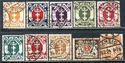 Danzig Postage Stamps Scott 63-170, Used Selection!! Da77