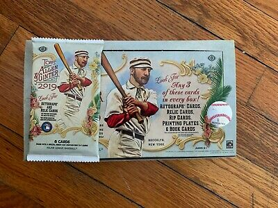 **THICK 2019 Topps Allen & Ginter HOBBY Hot Pack Relic Auto Rip Book DNA ?!?!?**