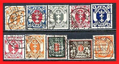 Danzig Postage Stamps Scott 63-170, Used Selection!! Da82