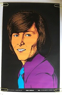 Bobby Sherman Vintage Houston Blacklight  Poster Psychedelic 1970  Pin-up 70's