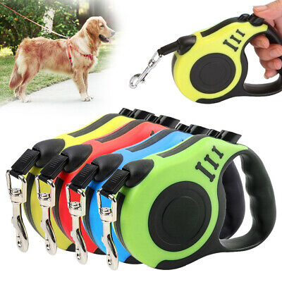 All Pet Solutions Retractable Dog Lead Extending Leash Tape Cord 5m 4colors