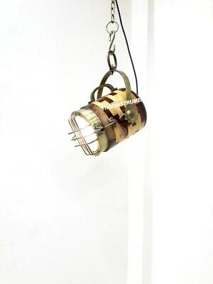 Vintage Nautical Natural Wooden Collectible Lamp Ceiling/Pendant Hanging Light