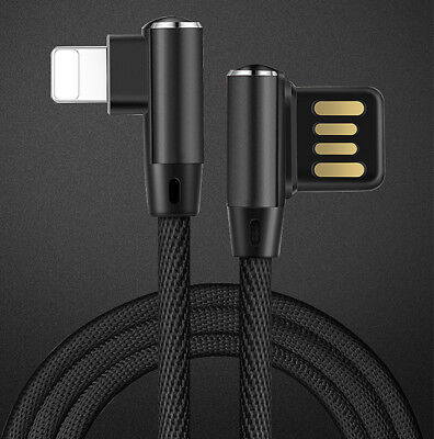 Lightning Type-C to USB Charge L-Line Braided Data Sync Cable For iPhone Samsung
