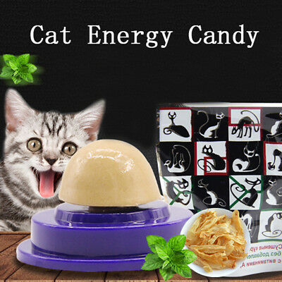 Cat snacks catnip sugar candy licking solid nutrition energy ball toys heal~GN