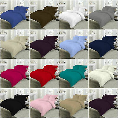 Duvet Cover Set Egyptian Cotton 400 Thread Count Of  3 Qty Bedding Duvet Cover