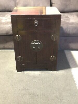 Oriental Cabinet - Classic Brown timber, 2 doors and drawer