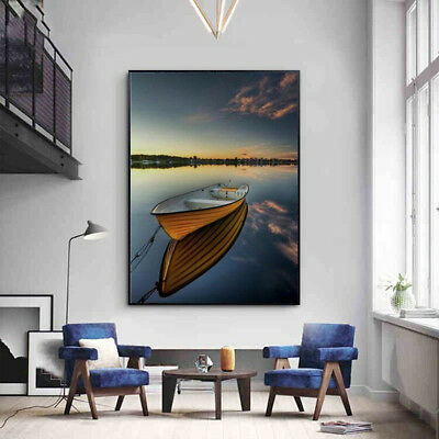 30x40cm Sea Boat Modern Canvas Print Painting Picture Home Wall Decor