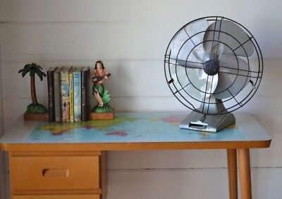 Vintage fan BGE Art Deco display industrial metal old