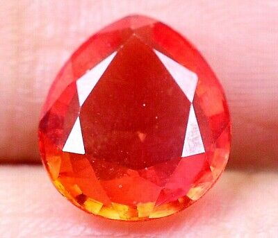 3.85 CT Ceylon's Natural Padparadscha Sapphire Pear Shape Certified Gem OF8790