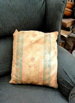 antique victorian FLORAL FEATHER PILLOW chic shabby DAMASK?