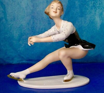 Wallendorf Antique Art Deco FIGURE SKATER Porcelain Figurine Germany