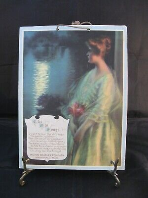 Milton Bradley 1920s Advertising Calendar The Old Songs Warde Traver Print 9X12