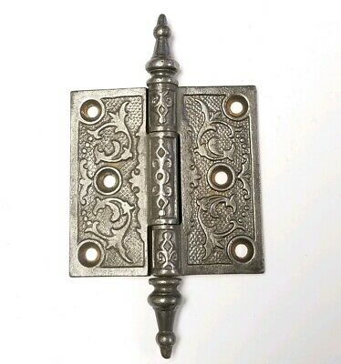 Antique Ornate Cast Iron Steeple Top East Lake 3x3 Hinge E91