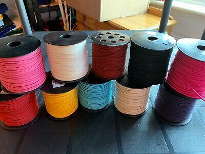 5M  leather Suede Cord Beading Thread Lace Flat Jewellery Making Craft 3mm