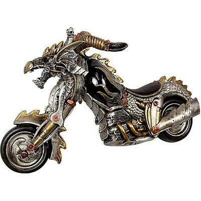 Skull Motorcycle Statue Steampunk Steam Punk Motorbike Motor Bike Hell Rider New