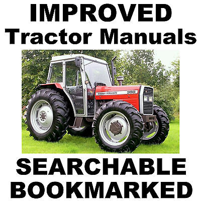 Massey Ferguson 300 Tractor Service Manual 382 383 390 390T 393 396 398 399 Cd